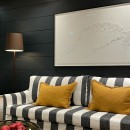 Tailored Style Sofa - Linen Stripe - Charcoal