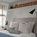 Image shows Simply Tailored Headboard in Nordic Linen Heather Grey