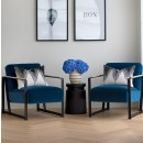 Harvey's Chair in Style Velvet Indigo Blue