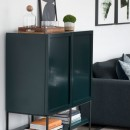 Cabinet on Legs - Forest Green Lacquer