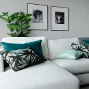 Image shows Eurydice Cushion in Emerald