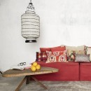Image shows Jaipur Cushion in Orange Sanguine