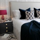 Image shows Simply Studded Super King Headboard in Studio Linen Soft Stone