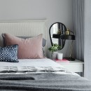 Image shows Simply Relaxed King Headboard in Chevron Cloud
