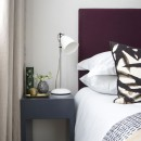 Image shows Simply Tailored Headboard in Relaxed wool Plum