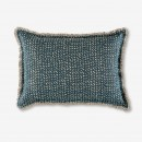 Image shows Jazz Cushion in Mineral Blue