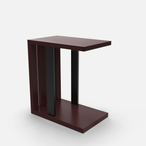 Slatted to Serve Side table - Deep Red