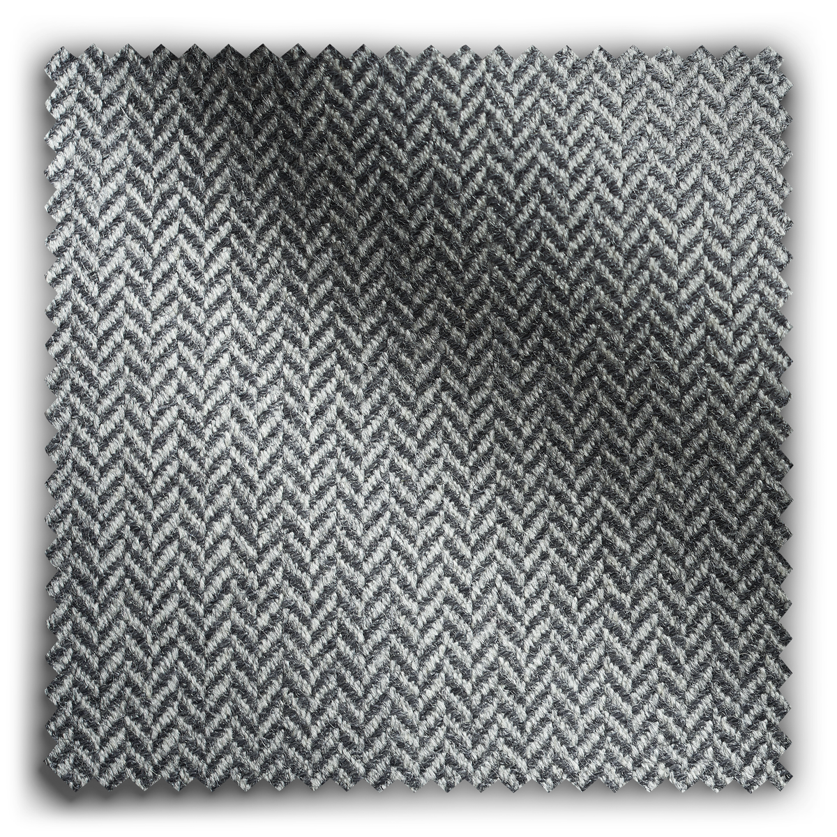 Image of City Herringbone Silver Grey  fabric