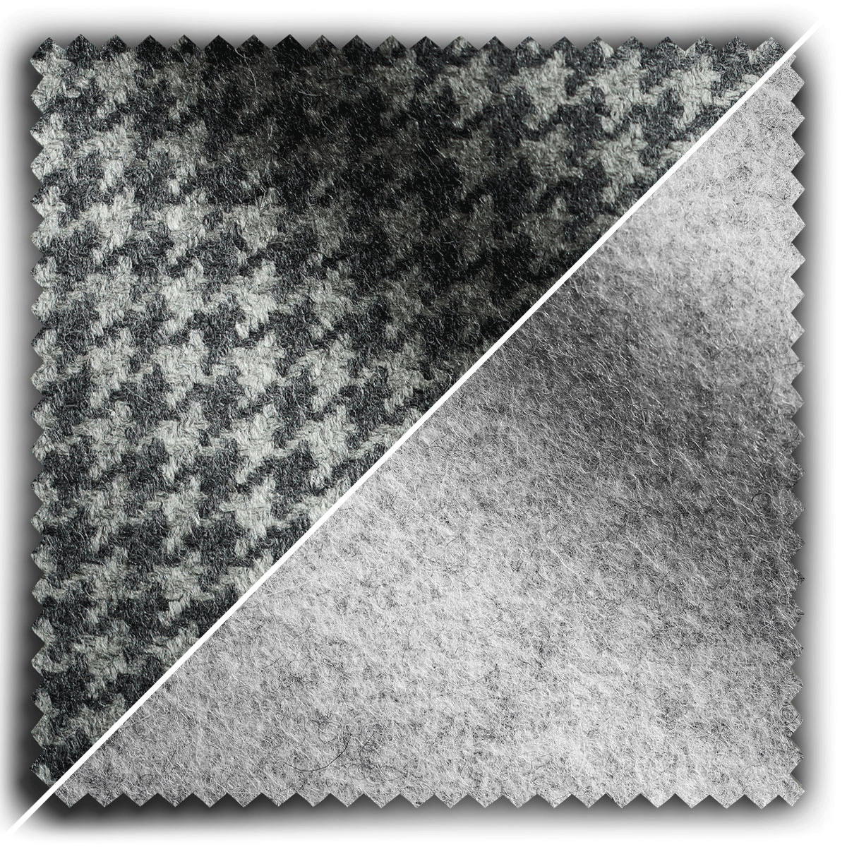 Image of Pale Grey Houndstooth Mix fabric