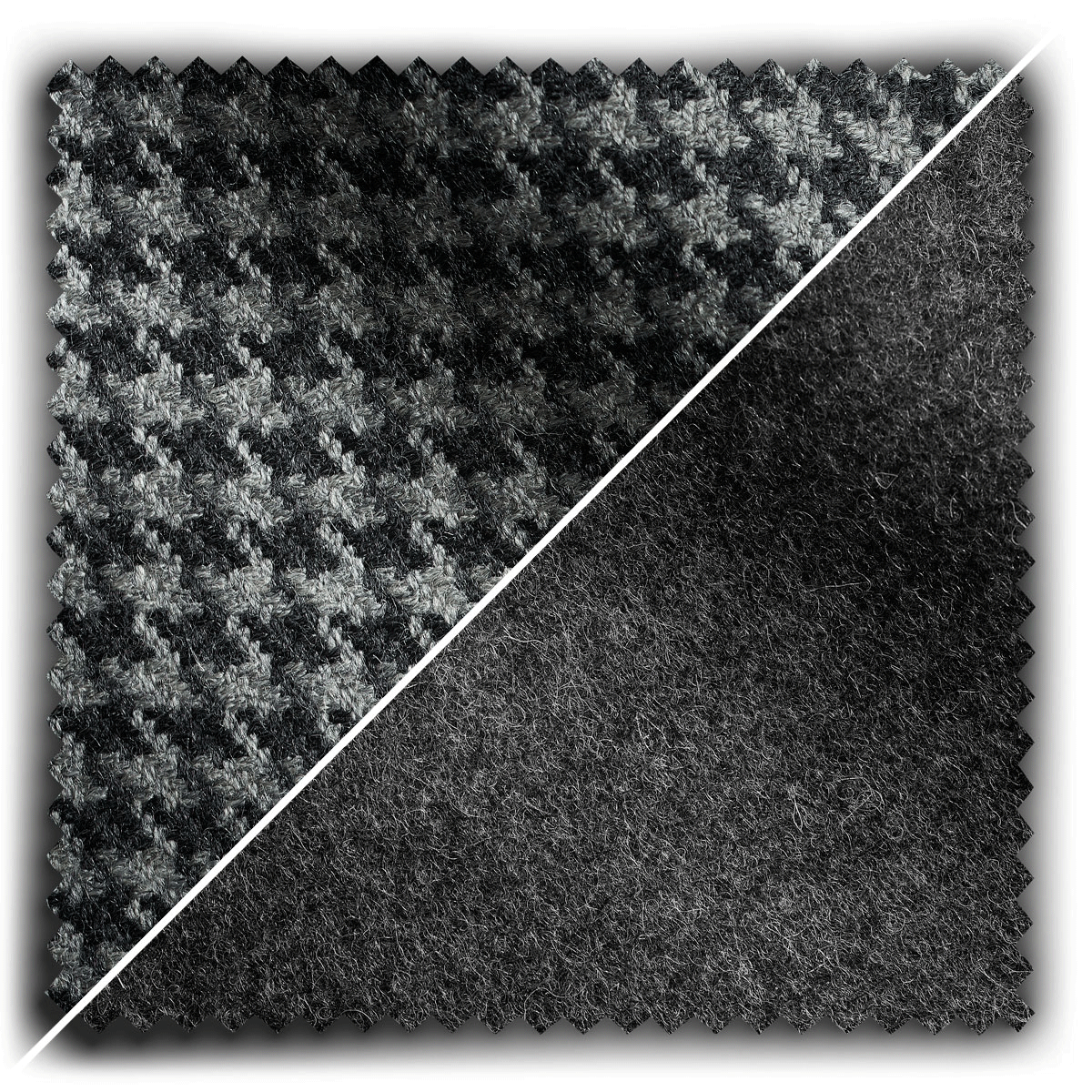 Image of Graphite Houndstooth Mix fabric