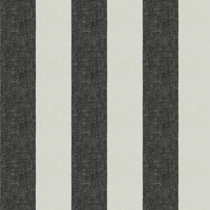 Image of Linen Stripe - Charcoal fabric