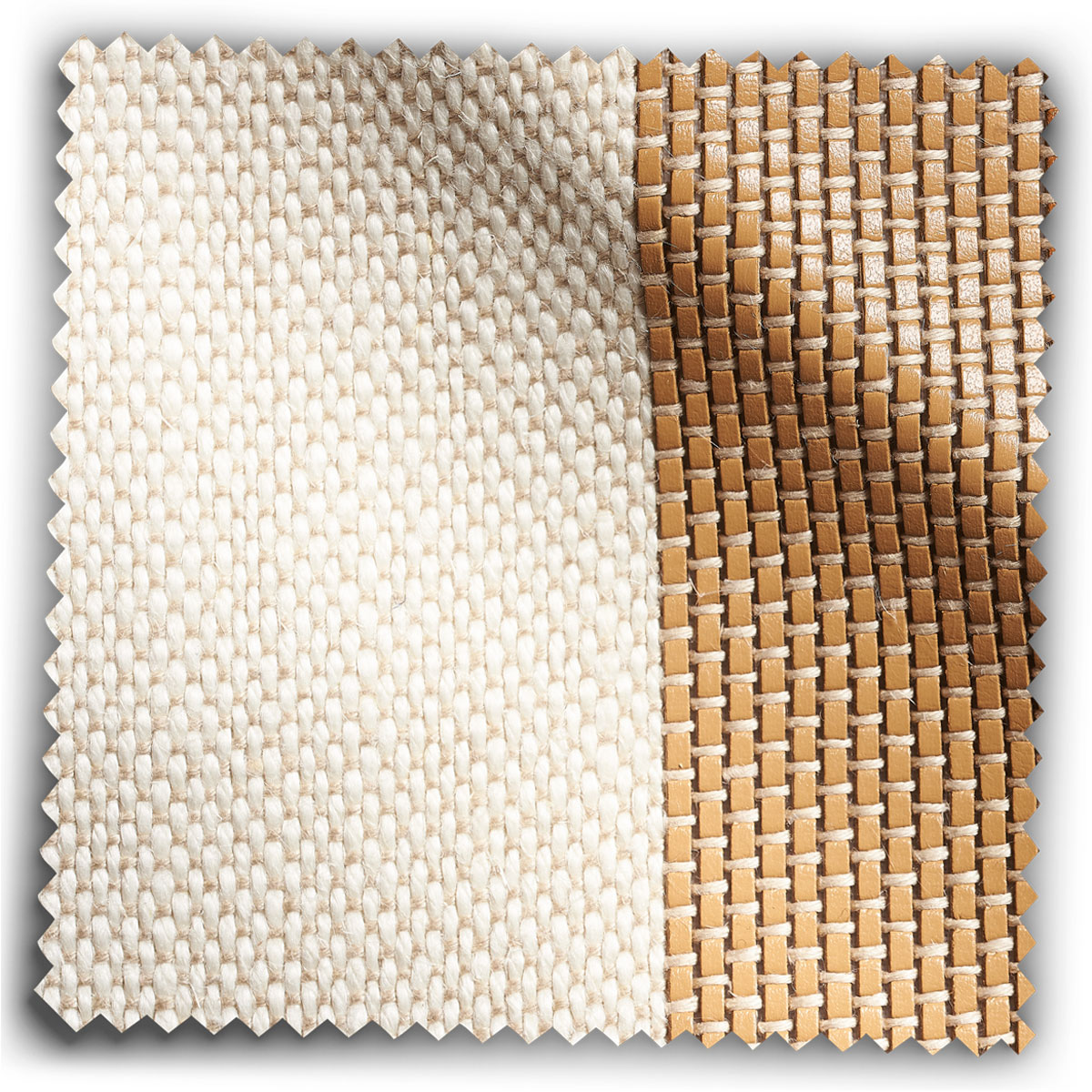 Image of Tan Leather Stripe fabric