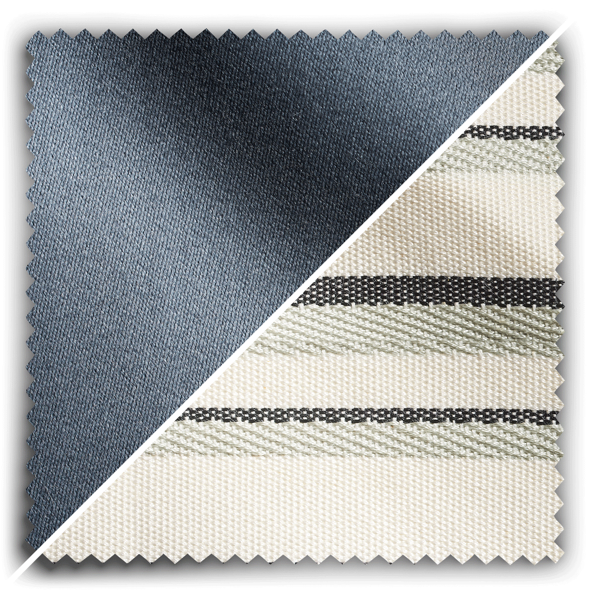 Image of Studio Stripes French Blue Relaxed Wool fabric