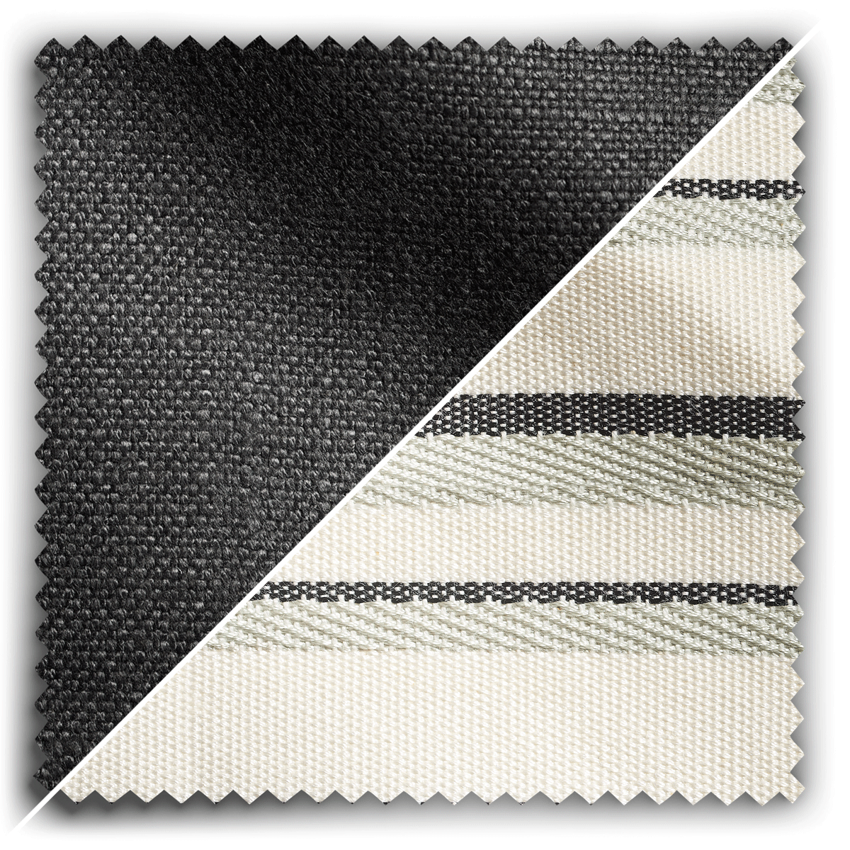 Image of Studio Stripes Charcoal Linen fabric