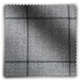 Image of Wool Check Grey fabric