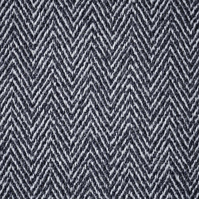 Image of Spitfire Herringbone & Relaxed Wool Mix - Navy  fabric