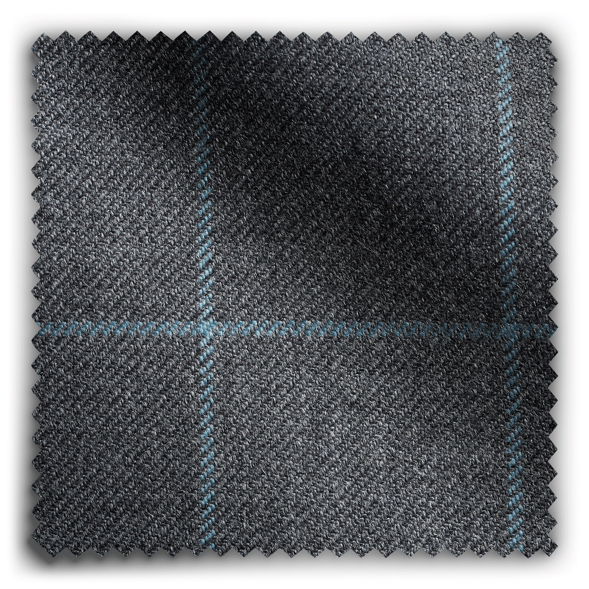 Image of Wool Check Graphite  fabric