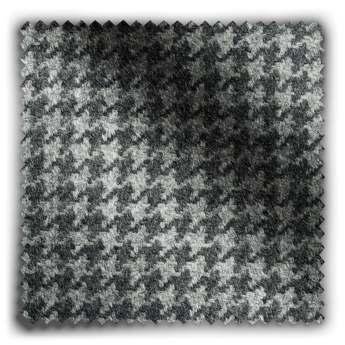 Image of Wool Houndstooth Pale Grey  fabric