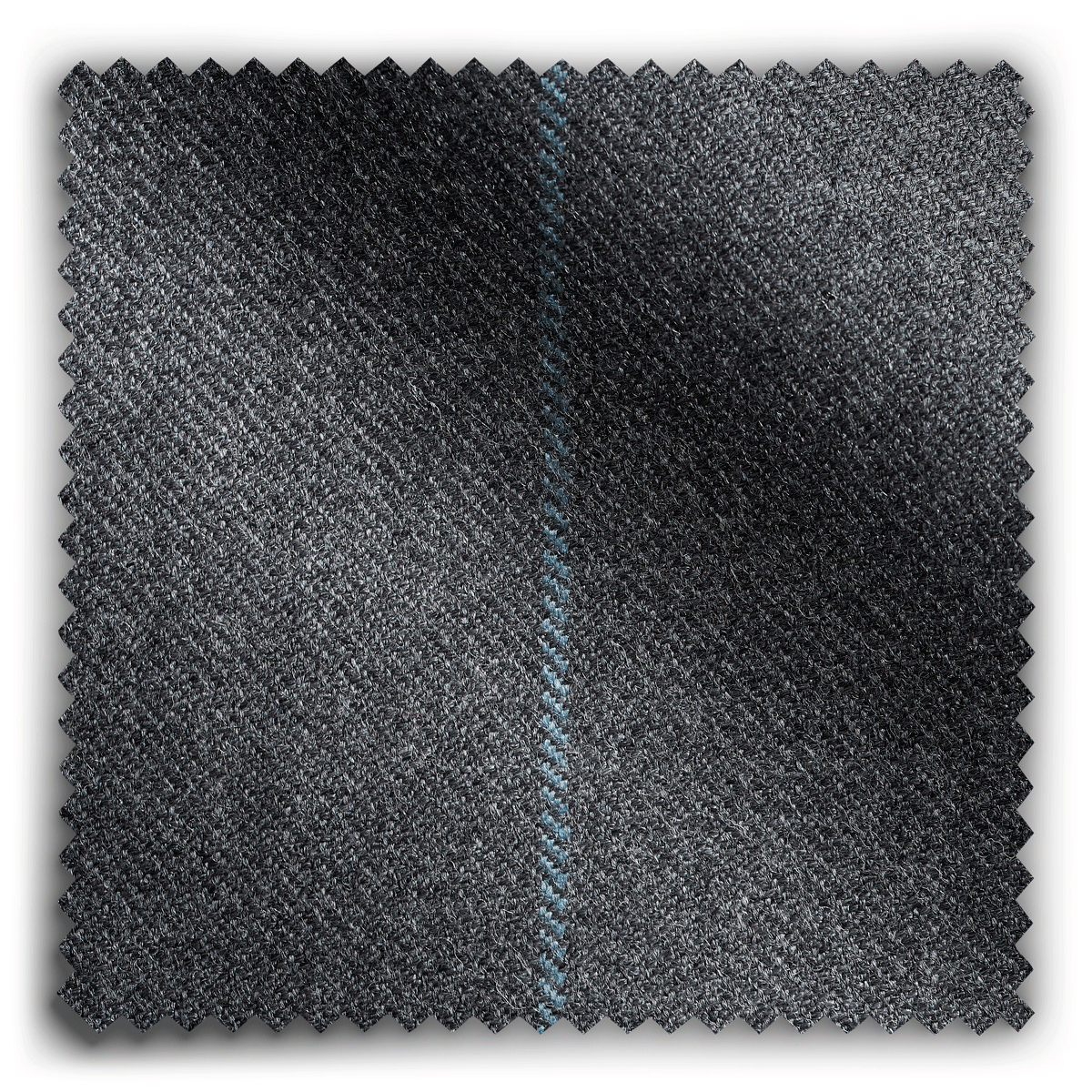 Image of Wool Stripe Graphite fabric