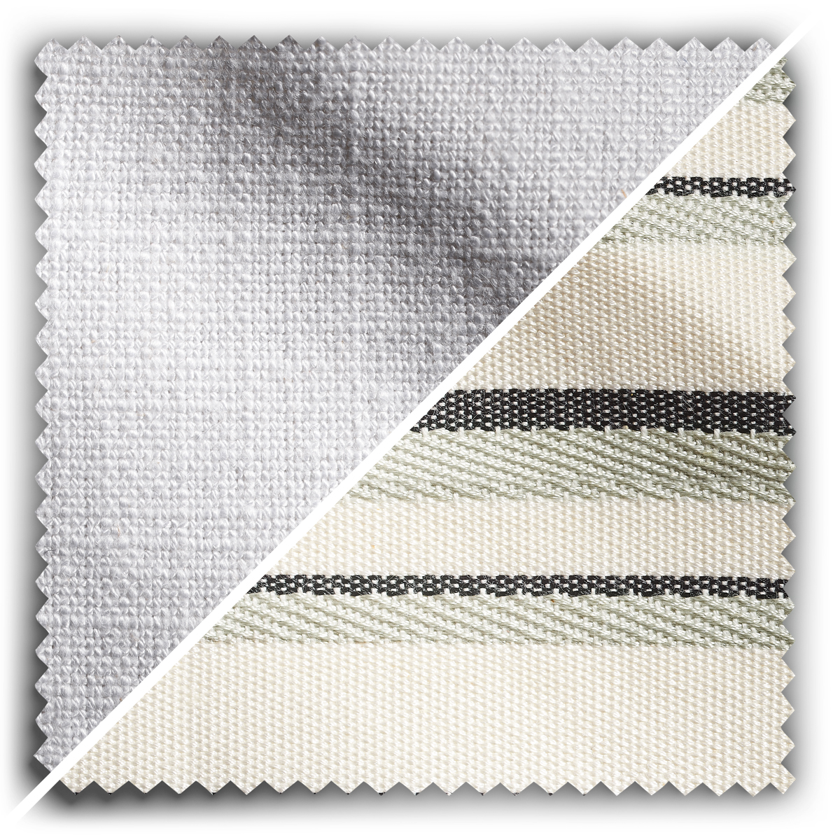 Image of Studio Stripes Antique White Linen fabric