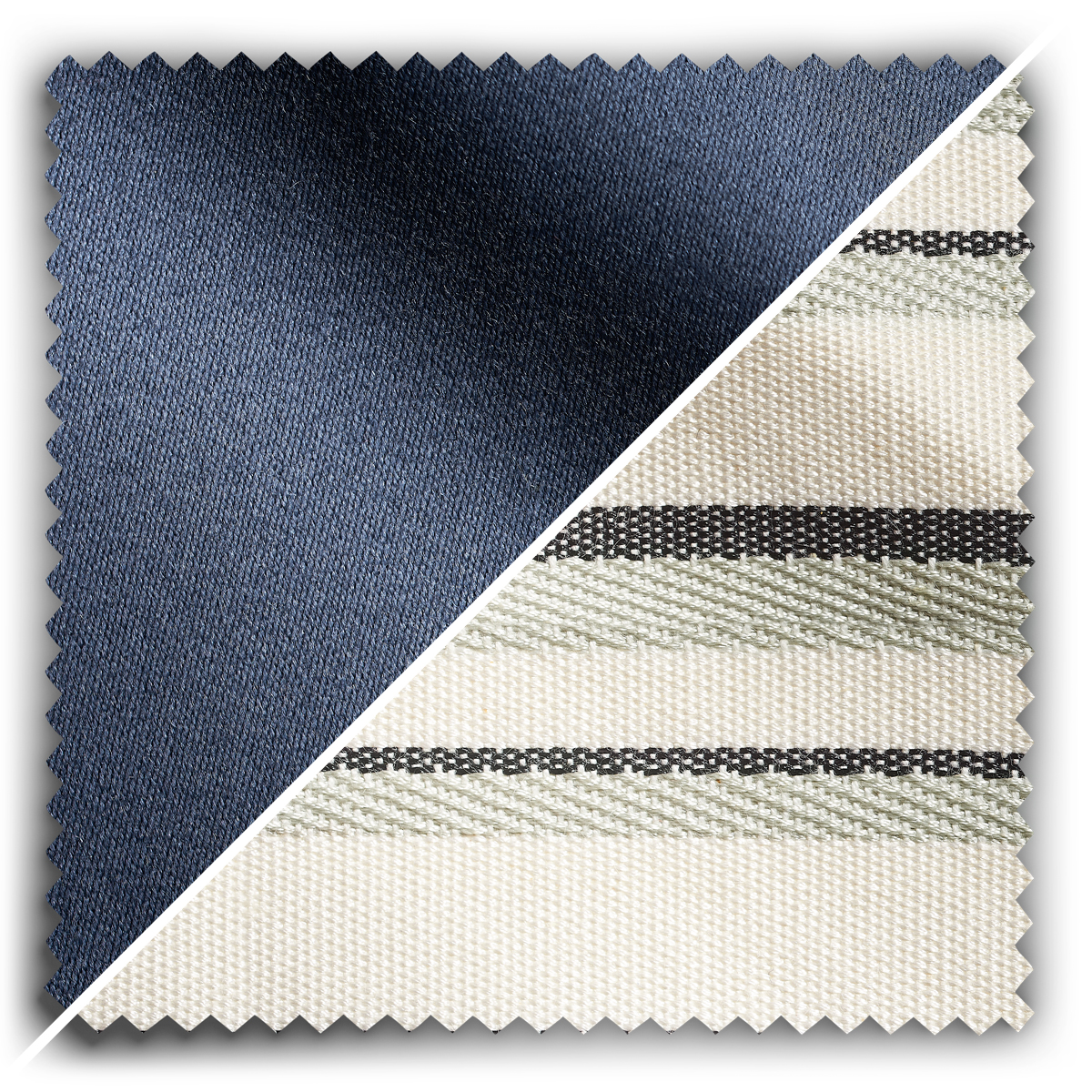 Image of Studio Stripes French Navy Studio Wool fabric