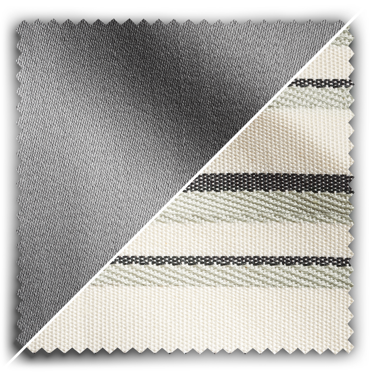 Image of Studio Stripes Silver Grey Studio Wool fabric