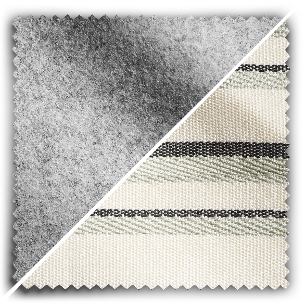 Image of Studio Stripes Grey Wool Felt fabric